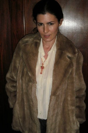 light brown sintetic fur BIMBA seleccin de ropa y accesorios vintage jacket - eg