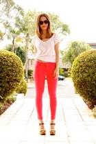 neon pink BLVD jeans