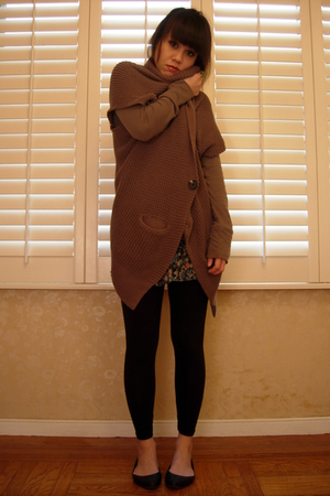 brown Frenchi cardigan - Forever21 skirt - shirt