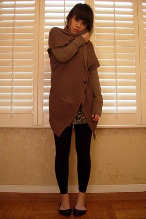 brown Frenchi cardigan - Forever21 skirt - shirt