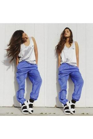 violet track pants nike pants - silver jersey nike top