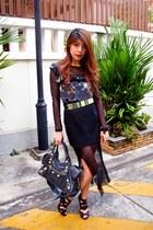 gold belt H&M belt - balenciaga bag - Stylenanda skirt - Bimba & Lola bracelet