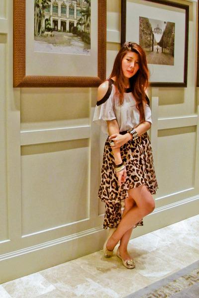 Primark blouse - skirt - bracelet - Topshop ring - vivienne westwood flats