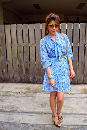 Ulala bracelet - Zara shoes - vintage dress - bag - workshop sunglasses