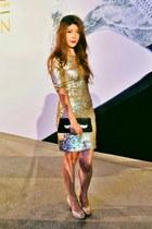 bcbg max azria dress - Oroton bag - Milly Shoes heels