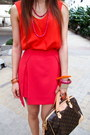 Aiiz-bracelet-louis-vuitton-bag-zara-top-milin-skirt-earrings