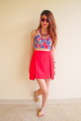 Floral-crop-top-la-boutique-top-milin-skirt-h-m-necklace