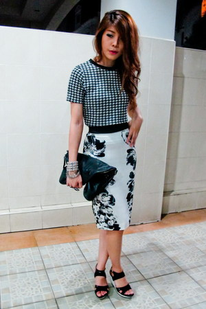 top - crop top top - Boyy bag - Zara skirt - bracelet - ring