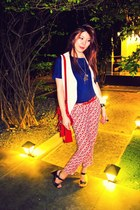 vintage vest - cambridge satchel bag - pants - Zara top - Indiva heels