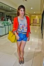 Zara-blazer-bag-studded-shorts-h-m-belt-top-jeffrey-campbell-wedges