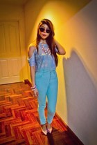 bracelet - Gallo by Thian shoes - MiuMiu sunglasses - pants - H&M necklace - top