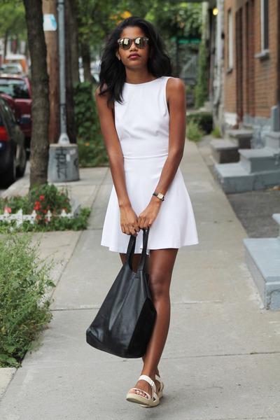 white American Apparel dress