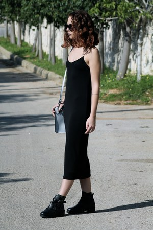 black long Zara dress