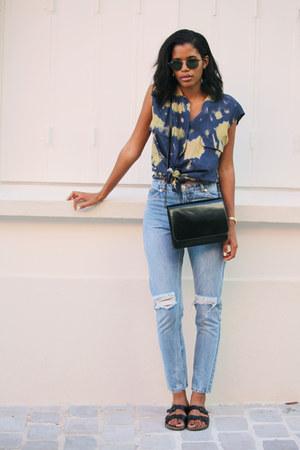 vintage blouse - Monki jeans
