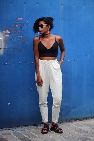 white Monki pants