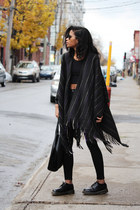black poncho Urban Outfitters vest
