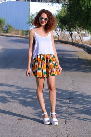 orange American Apparel skirt