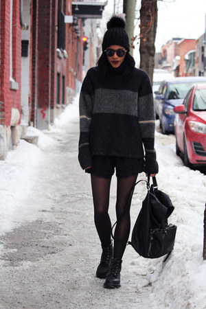 dark gray thrifted sweater