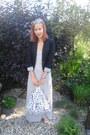 Heather-gray-maxi-dress-terranova-dress-black-h-m-blazer-white-no-brand-bag