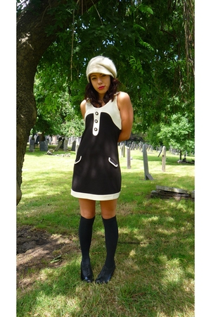 black zara via ebay dress - black shoe boots Primark shoes