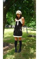 black zara via ebay dress - black shoe boots Primark shoes