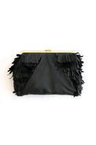 black leather elf purse