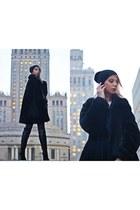 black black Sasha coat - gray jeans SOliver pants - light pink wool M&S blouse