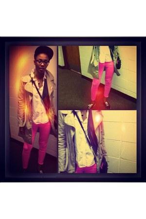 Zara jacket - pink J Crew pants