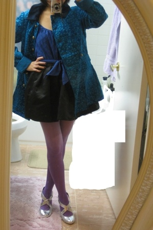 free people coat - Juicy Couture top - forever 21 skirt - DIY stockings - seyche