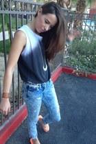 Zara t-shirt - River Island jeans - River Island belt - H&M sandals