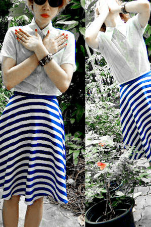 blue crazy color 2nd Hand skirt
