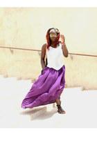 maxi skirt Zara skirt - tank top H&M top - new look sandals