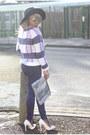 Funnel-coat-new-look-coat-navy-denim-trousers-gap-jeans-fedora-asos-hat