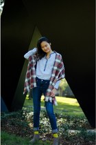 H&M boots - JCrew shirt - H&M scarf