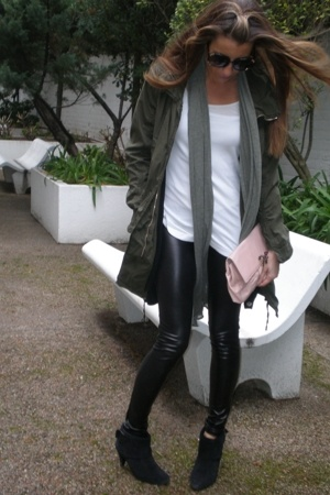 coat - leggings - shirt