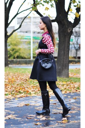 black pull&bear dress - crimson PERSUNMALL blouse