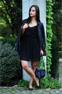 Black-new-yorker-dress-black-zara-jacket