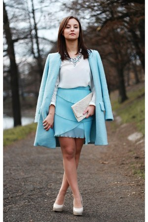 sky blue Zara coat