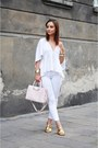 White-zara-top-white-bershka-pants-gold-zara-sandals
