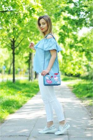 sky blue Mohito bag - sky blue Mohito top