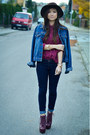 Jeffrey-campbell-boots-bershka-jeans-bershka-hat-denim-secondhand-jacket