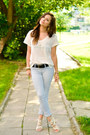 White-h-m-t-shirt-silver-zara-heels-sky-blue-stradivarius-pants