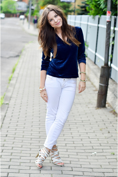 white pants and top - Pi Pants