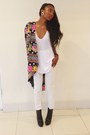 Black-ysl-boots-thrifted-blazer-white-h-m-pants-white-zara-intimate