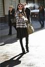 Black-miu-miu-boots-black-maison-martin-margiela-dress