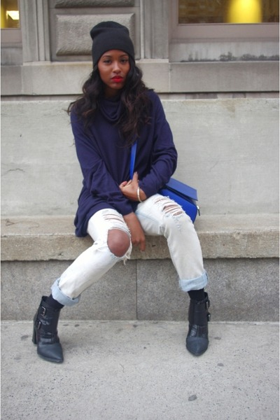 blue givenchy Givenchy bag - black booties Tibi boots