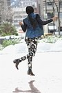 Black-acne-boots-black-saks-fifth-avenue-jacket-navy-elie-tahari-blazer