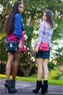 Hot-pink-31-phillip-lim-skirt-blue-plaid-aqua-skirt