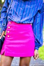 Hot-pink-31-phillip-lim-skirt-blue-plaid-aqua-skirt