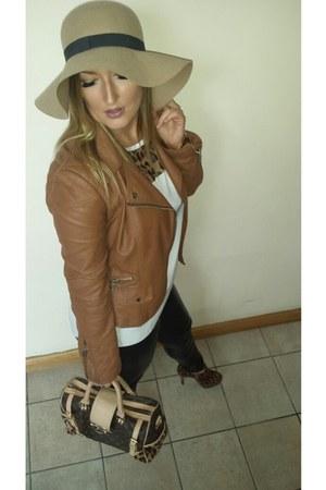 Primark hat - River Island jacket - Louis Vuitton bag - Only pants